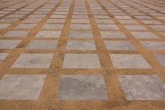 A rectangular marble and terrazzo floors. Stock Photo