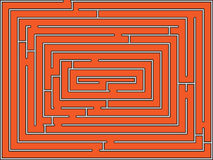 Rectangular maze Stock Photo