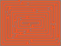 Rectangular maze stock photo