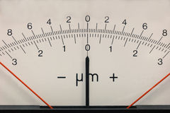 Rectangular measurement device retro style Royalty Free Stock Image