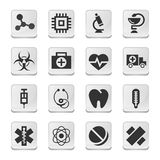 Rectangular medical icons Royalty Free Stock Image