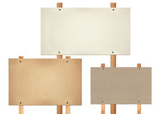 Rectangular message board. With different texture Royalty Free Stock Photo