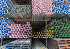 Rectangular metal pipe for construction Stock Photography