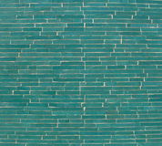 Rectangular mosaic pattern wall in turquoise blue Stock Image