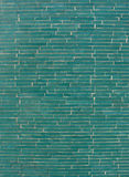Rectangular mosaic pattern wall in turquoise blue Stock Photos