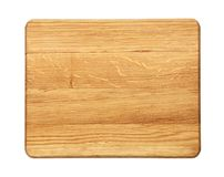 Rectangular oak wood cutting board isolated Stock Photography