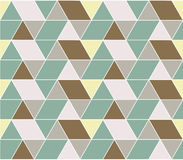 Rectangular Pattern. Geometry Pattern with Triangle Rectangle, Rhombus and Trapezoid royalty free illustration