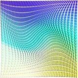 Rectangular pattern shape in colorful pattern background warp.  stock illustration