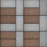 Rectangular Paving Slabs Laid as  Square. Seamless. Rectangular Paving Slabs Laid as four Brown Square Inside the Big Gray Square. Seamless Tileable Texture Royalty Free Stock Photography