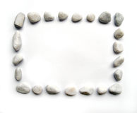 Rectangular pebbles frame Royalty Free Stock Photos