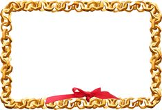 Frame made of nuts with a bow. Stock Images