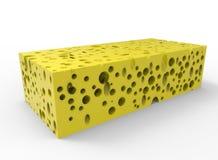 Rectangular piece of cheese illustration Stock Photo