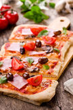 Rectangular Pizza Royalty Free Stock Photo