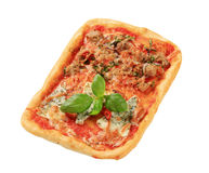 Rectangular pizza Royalty Free Stock Photos