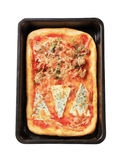 Rectangular pizza Stock Image