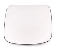 Rectangular plate with silver On  white background Royalty Free Stock Photography