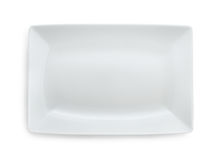 Rectangular plate Royalty Free Stock Photography