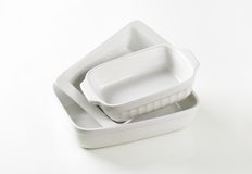 Rectangular porcelain dishes Stock Image