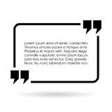 Rectangular quote text frame Royalty Free Stock Photo