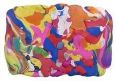 Rectangular rainbow banner Stock Photo