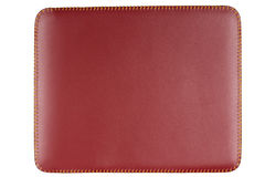 Rectangular red leather Royalty Free Stock Photo