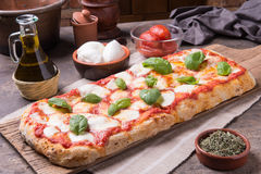 Rectangular Romana`s Pizza Royalty Free Stock Photos