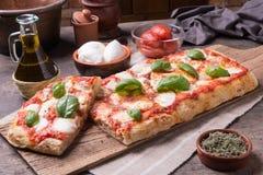 Rectangular romana`s pizza Stock Image