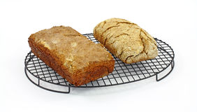 Rectangular Rounded Loaves Bread Stock Images