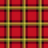 Rectangular seamless fabric pattern mainly in red Royalty Free Stock Images
