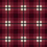 Rectangular seamless fabric pattern in red and gray Royalty Free Stock Photography