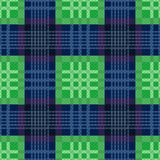 Rectangular seamless pattern in green and blue Royalty Free Stock Photo