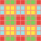 Rectangular seamless pattern in motley trendy colors Royalty Free Stock Photography