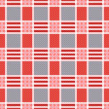 Rectangular seamless pattern in pink an gray trendy hues Royalty Free Stock Images