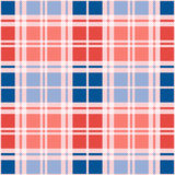 Rectangular seamless pattern in red an blue trendy hues Royalty Free Stock Photo