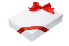 Rectangular shape gift box Stock Images