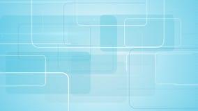 Rectangular shapes on blue background Stock Images