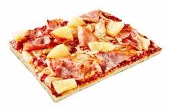 Rectangular slice of Italian Hawaiian pizza Royalty Free Stock Photos