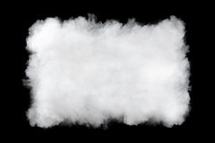Rectangular smoke cloud background Stock Image