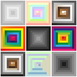 Rectangular spiral Royalty Free Stock Photography