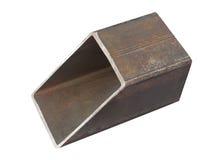 Rectangular steel pipe Stock Photos