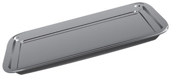 Rectangular steel tray Royalty Free Stock Photo