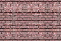 Rectangular stone brown terracotta brick old masonry water tower castle urban grunge background weathered surface stock photo