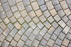 Rectangular stone pavement Royalty Free Stock Images
