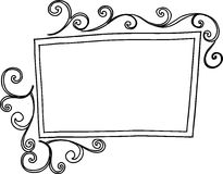 Rectangular Swirl Frame Stock Photography