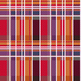 Rectangular tartan seamless texture mainly in warm colors Royalty Free Stock Photos