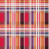 Rectangular tartan seamless texture mainly in warm hues Stock Image