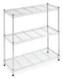 rectangular three metal shelves rack Stock Photography
