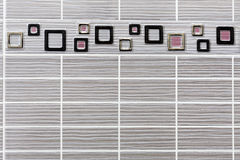 Rectangular tiles with frame Stock Photo