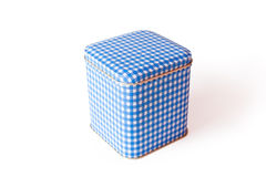 Rectangular tin box on a white Royalty Free Stock Photos