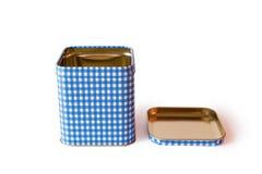 Rectangular tin box on a white Stock Photography